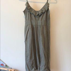 Banana Republic XS spaghetti strap olive dress